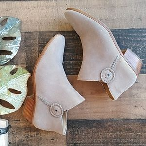 Jack Rogers Gray Ankle Booties